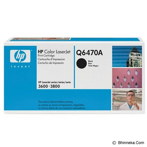 HP Black Toner [Q6470A] - Toner Printer Hp